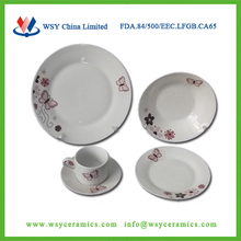 20pcs poland porcelain dinner set with butterfly design printing