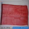 China gold manufacture packing garlic mesh bag