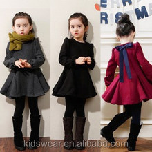 Hot selling kids fashion clothing children garments lovely party wear dresses for girls