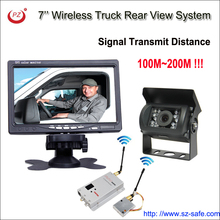 wireless rear view reversing camera kit, 24V wireless backup rear view system for truck,