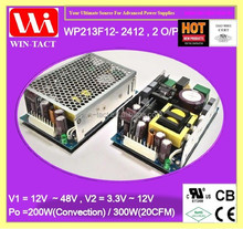 1U Dual output 24v 10a 12v 5a 300w switching power supply