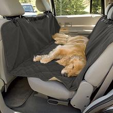 Microfiber Waterproof Dog Seat Covers Car Hammock Pet Seat Protector Non-slip Silicone Backing, Dark Grey