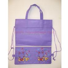 promotional drawstring shopping bag with printing
