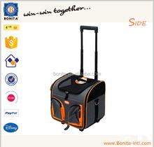 2015 Wholesale pet trolley carrier bag, pet carrier bag, Wheel dog trolley