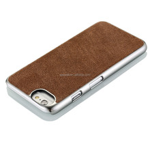 NCVM leather mobile phone case for Iphone, velvet pattern