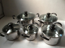 professional 10pcs stainless steel pots cookware
