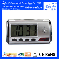 Wireless Remote Control Table Hidden Clock Digital Camera with Motion Dection