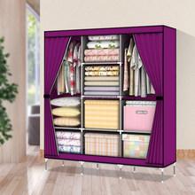Huge size curtain door non-woven fabric portable closet