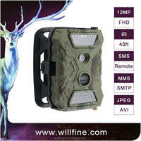 Hot seller 12MP 1080P HD infrared SMS MMS GPRS hunting camera wild scouting animal game camera