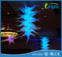 inflatable lighting stars for event ceiling decorations / inflatable LED lights stars event / inflatable hanging stars with leds