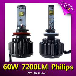 Accept Paypal 2015 Hot Selling Lighting led for Replacing 35W HID Xenon Kit the 60W 7200LM V16 H10 LED Headlight