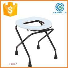 Fine Hospital Elderly Folding Commode Chair
