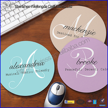 Fancy Plastic Round Printing Rubber Mouse Pad