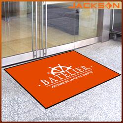Rubber printed logo branded entrance door mat