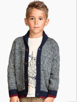 D72039t 2015 spring boy's cardigan sweater