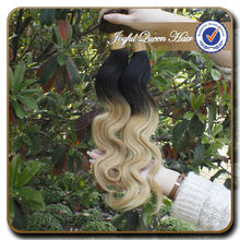 Factory direct china cheap body wave two tone human hair
