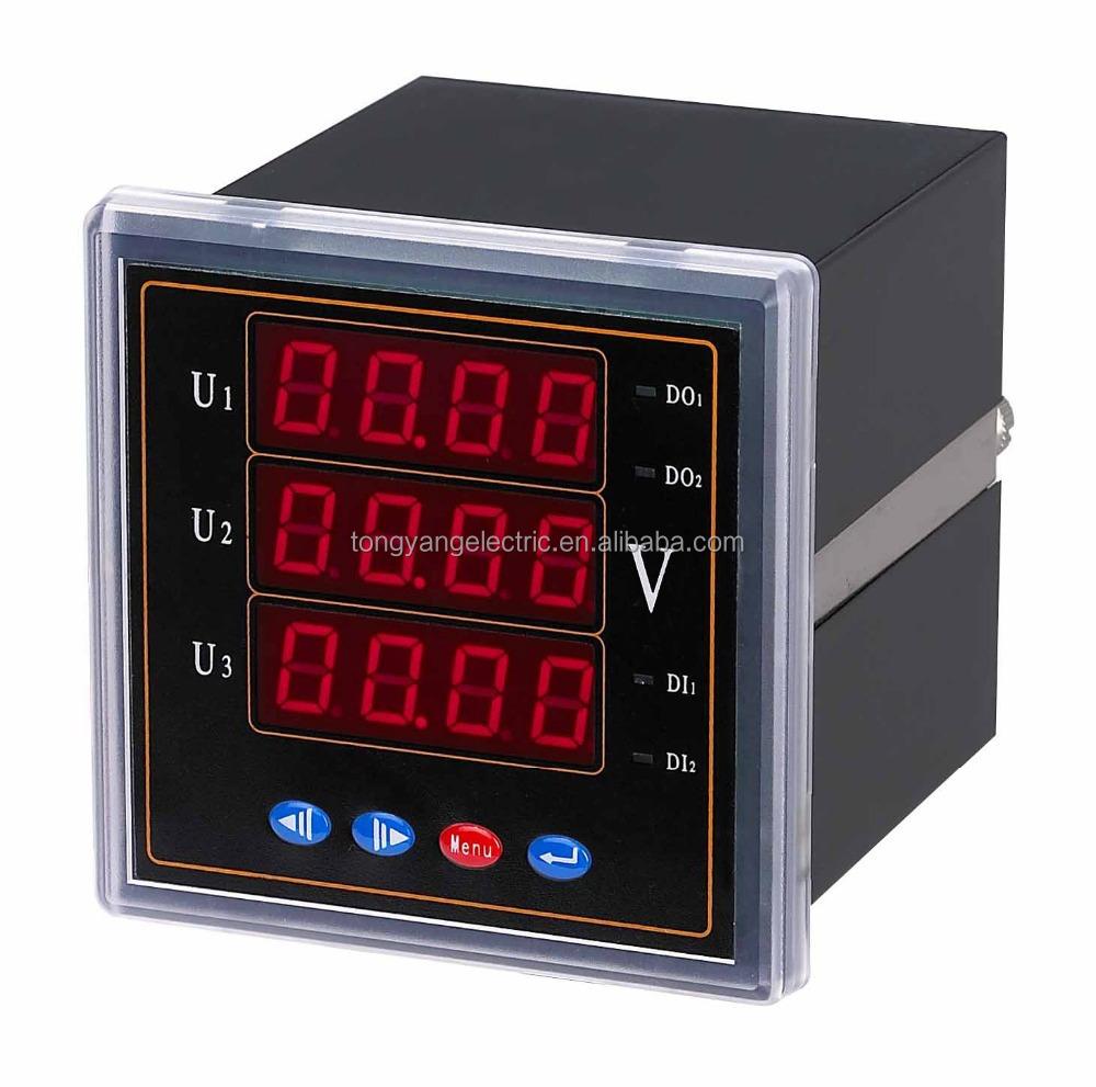 Multifunction Meter 96x96 : Lcd multi function energy meter power
