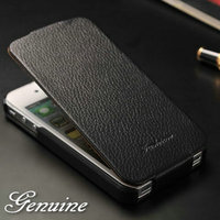 For Apple brand smartphone of genuine leather phone case for Iphone 4 4S vertical flip retro design