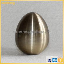 egg shape electroplate finish curtain rod pole for curtain pipe design shower set