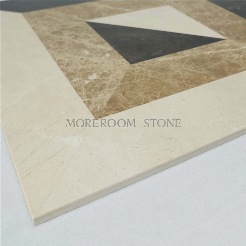 MPC0001-S06G Moreroom Stone Turkish Marble Light Emperador Marble Tiles Price Beige Marble Stone Water jet Medallion Marble Flooring Polished Medallion-4.jpg