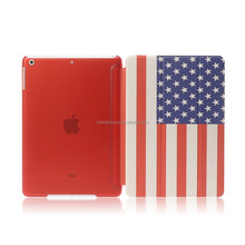 luxury pu leather flip printing smart cover stand case for ipad air ipad mini