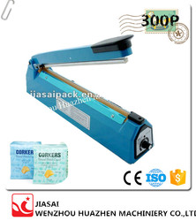 High quality plastic bag sealer model SF300P for home use or small shop