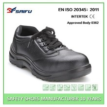 SF1606-1 High quality black steel toe action leather safety shoes