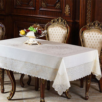 2015 high quality PVC lace wholesale wedding tablecloth