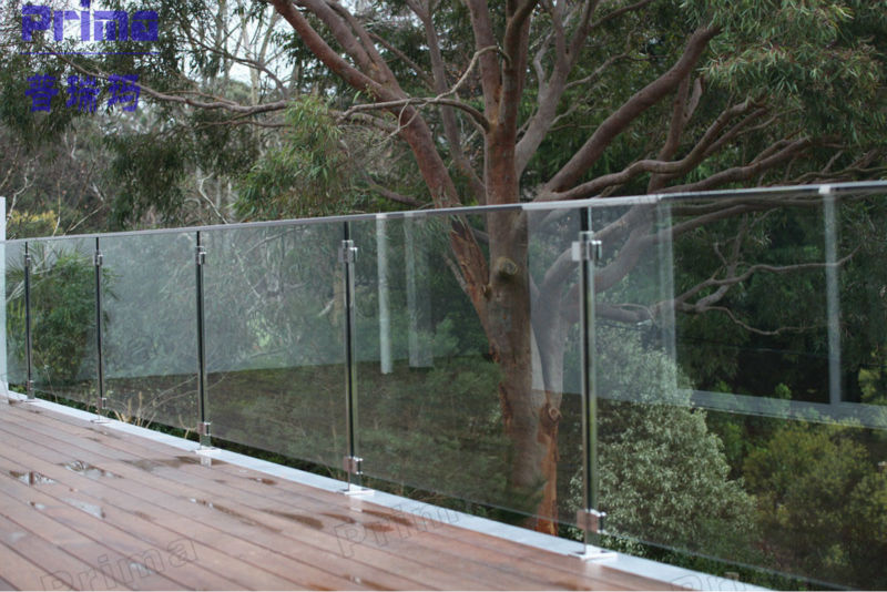 Exterior Handrail Lowes Frameless Glass Deck Railing