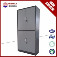 KD Two tiers 4 doors Steel Filing Cabinet for Office Use