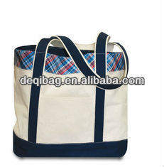 Casual canvas tote bags for girls, canvas school tote bag wholesale casual style simple hand bag for women