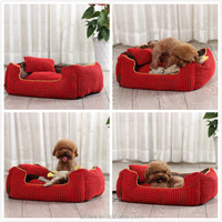 Luxury pet bed with pillow, Dog bed with pillow
