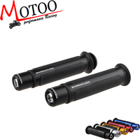 Motoo - BARRACUDA 7/8'' CNC aluminum Motorcycle Handlebar Handle bar Grips Fit for yamaha R1 CBR 1000RR