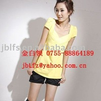 Simple type of a woman's supply of blue, purple, yellow, white, etc. T-SHIRT