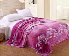 Purple Lily .2014 new polyester solid/printed fleece mora blanket factory china/throw/quilt