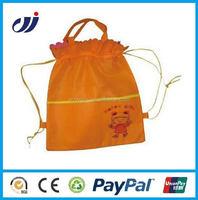 Eco-friendly one color non woven green shopping bags