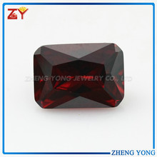 Hot Sale Best Synthetic Gemstone Rectangle CZ Amethyst/Diamond Beads