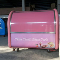 HIgh quality hotdog vending mobile food van/cart for sale