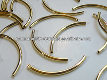 CURVED TUBE GOLD PLATED