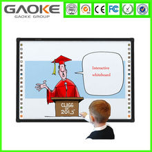 Aluminium frame 4 touch Infrared interactive electronic whiteboard with floor standing Smart Pen Tray
