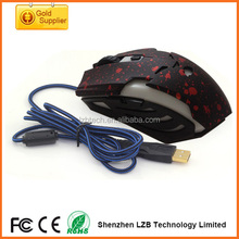 the best quality hot selling top-level USB wired 6D computer mouse , game mouse with High DPI