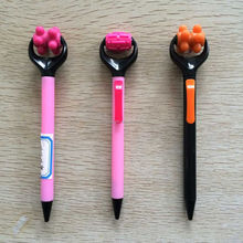 lovely plastic massage ball pen for promotional