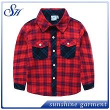 Moda polo niños bolsillo de la camisa del otoño de manga larga camiseta