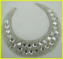 Hot-fix Wedding Veil Rhiestone Applique Belt Patch for Bridal Dresses