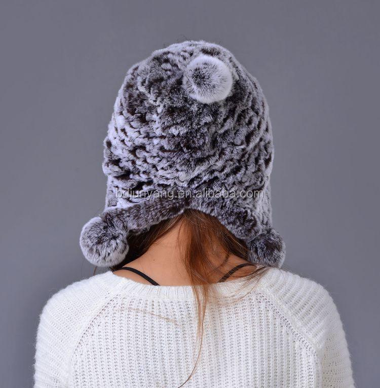 New style crochet baby cowboy hat pattern trendy designer girl rabbit fur hats caps