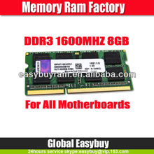 Computer part laptop 8gb ddr3 1066 1333 1600 memory