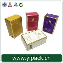 Glossy Lamination PMS Printing Foldable Flat Pack Cosmetic Packaging Box