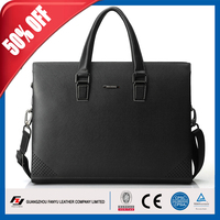 Best quality cowhide cooler laptop briefcase leather, leather briefcase men