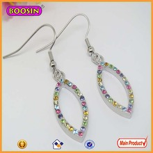 Top design shiny colorful diamond jewelry fashion earings #2266