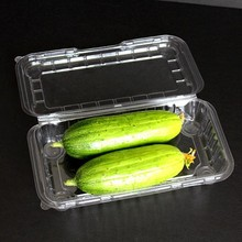 Clear blistering formed plastic tray with cover for fruit packing